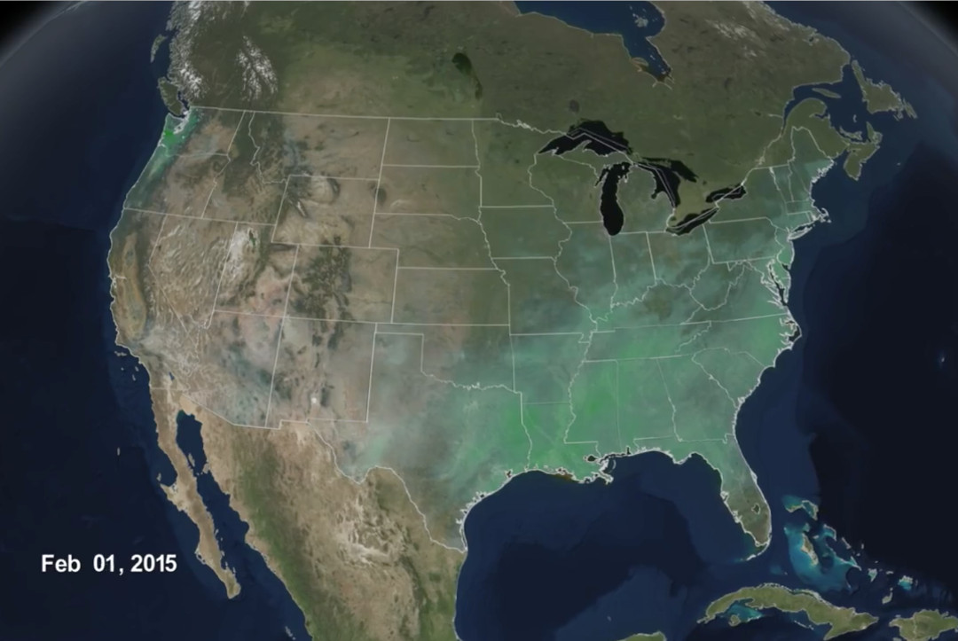 Video 'Rainfall Accumulation Across the United States (2/1/2015)